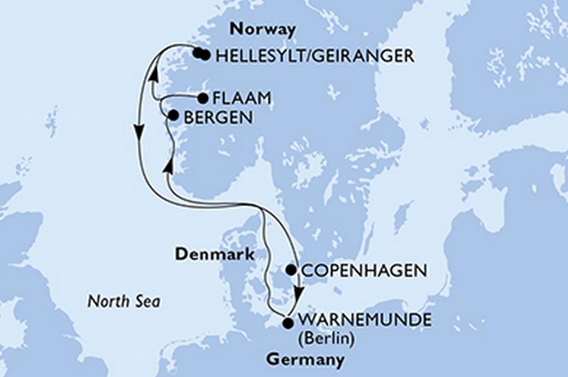MSC Poesia - vols A/R inclus : Fjords de Norvège