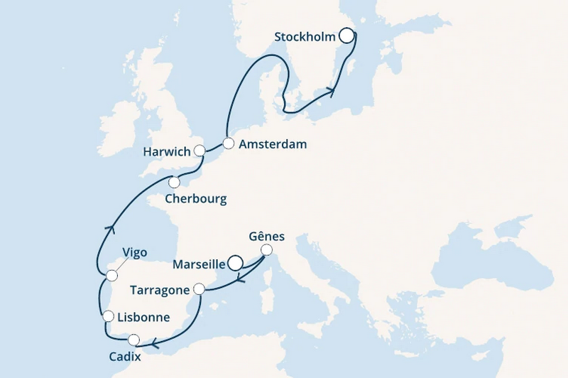 Costa Magica : Espagne, Portugal, Angleterre, Pays-Bas, Suède