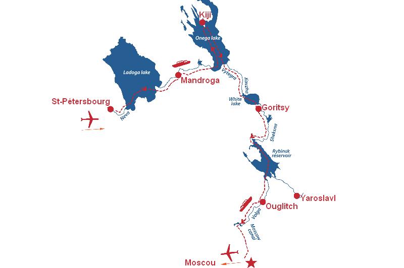 Croisière fluviale en Russie au départ de Marseille