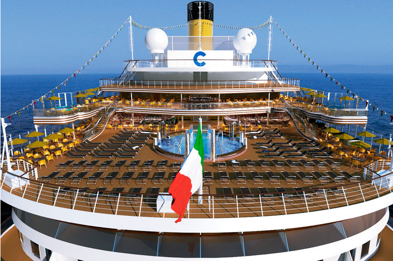 Costa Diadema : croisière nouvel an Espagne, Sicile, Italie