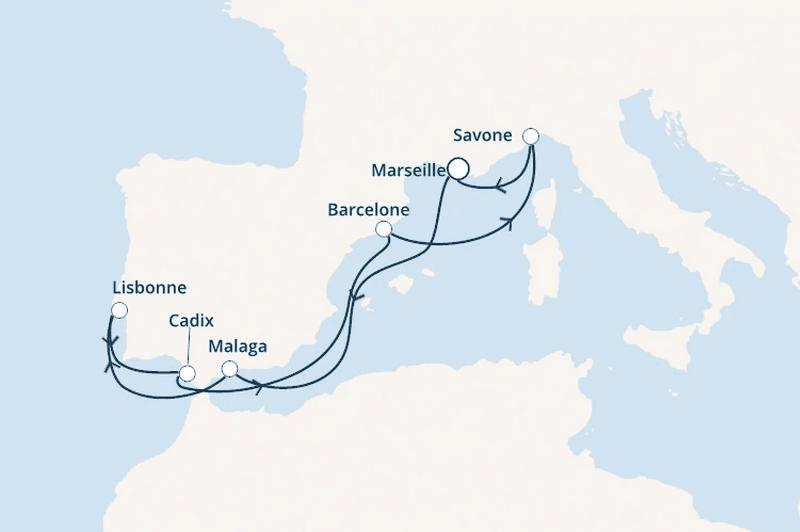 Costa Favolosa : Espagne, Portugal, Italie