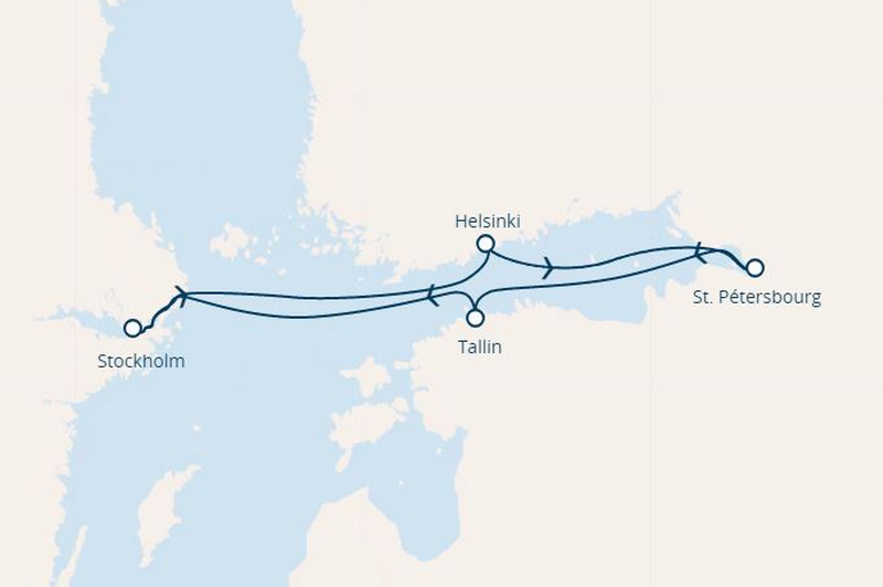 Costa Magica : Suède, Finlande, Russie, Estonie