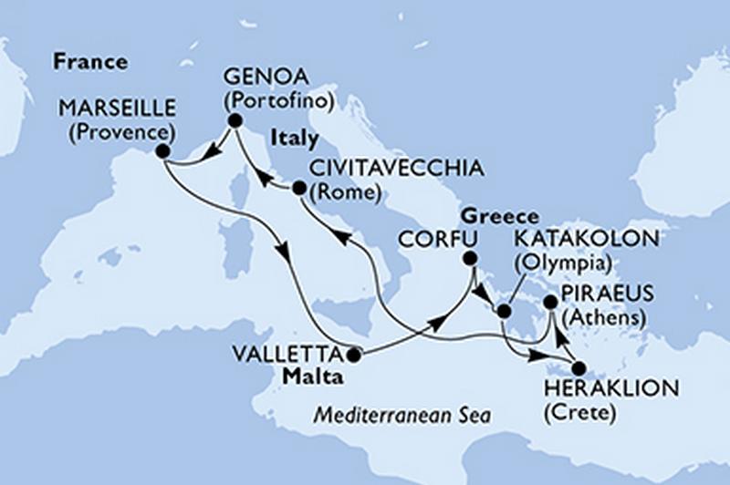 Poesia : Malte, Grèce, Italie