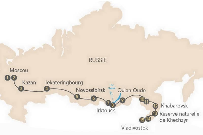 Croisière ferroviaire : le mythique Transsibérien